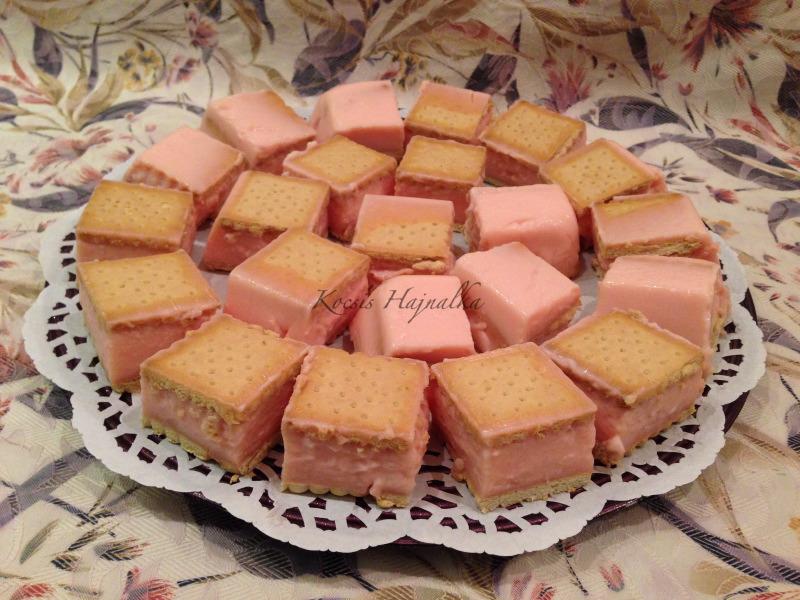 kekszes pudingkocka, kekszes recept, sütés nélküli édesség, Kocsis Hajnalka receptje, www.mokuslekvar.hu