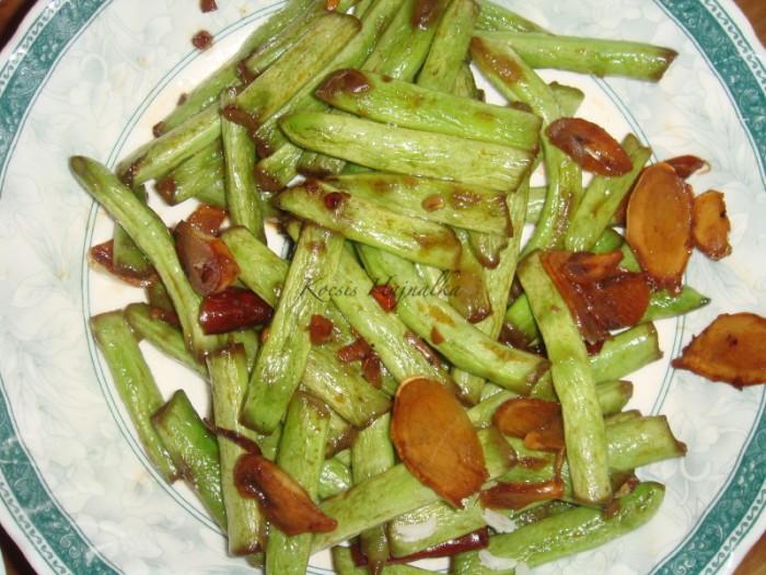 kínai párolt zöldbab, Kocsis Hajnalka receptje, www.mokuslekvar.hu