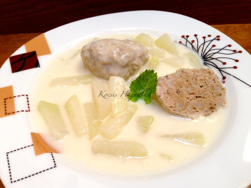 karalábéfőzelék húsgombóccal, Kocsis Hajnalka receptje, www.mokuslekvar.hu